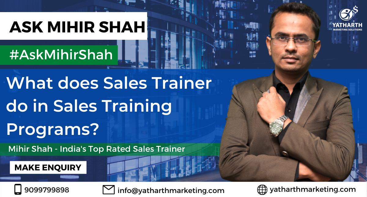 Sales Trainer | Sales Training Programs | Sales Trainer in India | Sales Training Programs in India