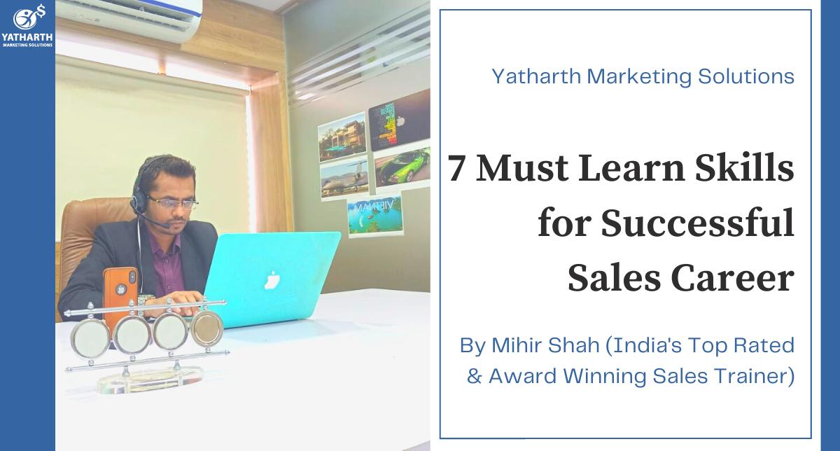 Successfull Carrer in Sales | Sales Skills | Sales Person | Great Sales Person| Skills for Sales Manager | Selling Skills | Sales Training Program | Professional Sales Skill Training | Sales Skill Training